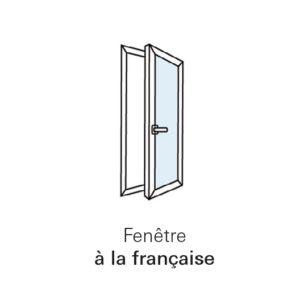 Fenêtre à la française sur mesure